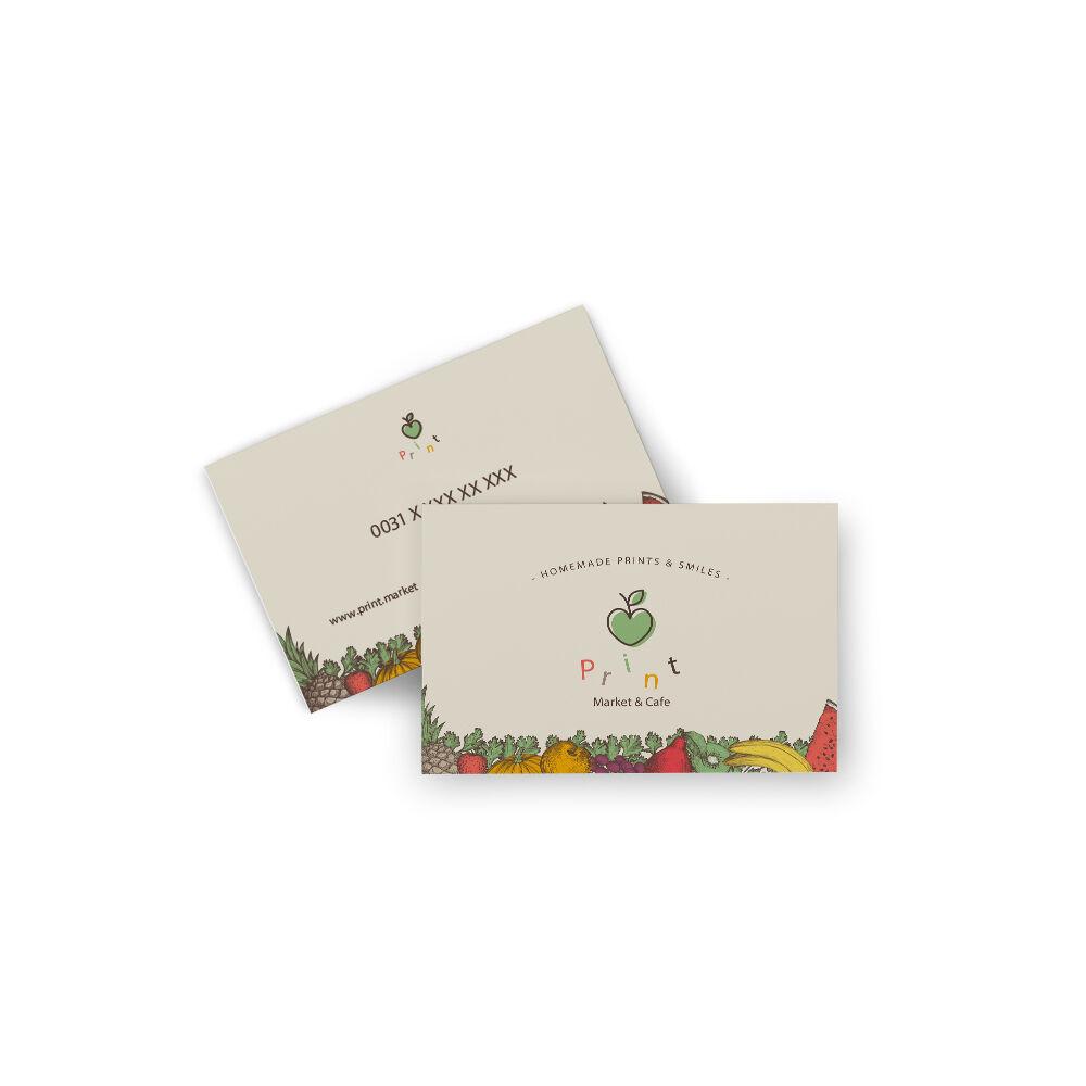 Digitaal gedrukte visitekaartjes