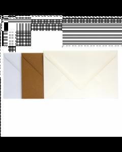 Blanco wenskaart enveloppen