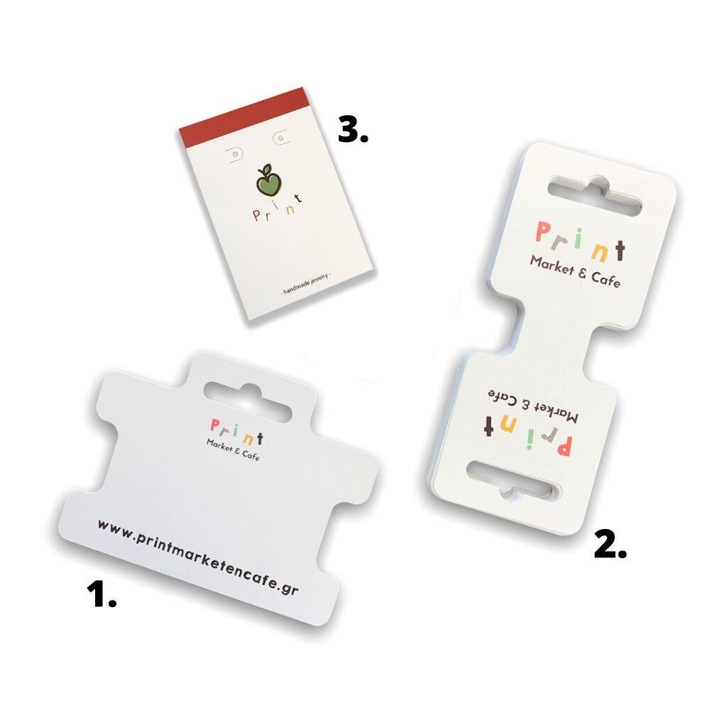 Sieraden kaartjes drukken