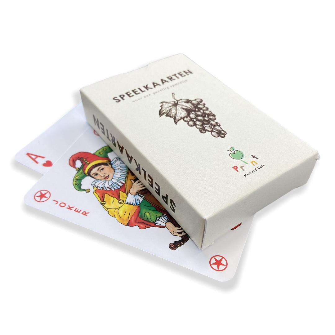 Speelkaarten doosje bedrukken