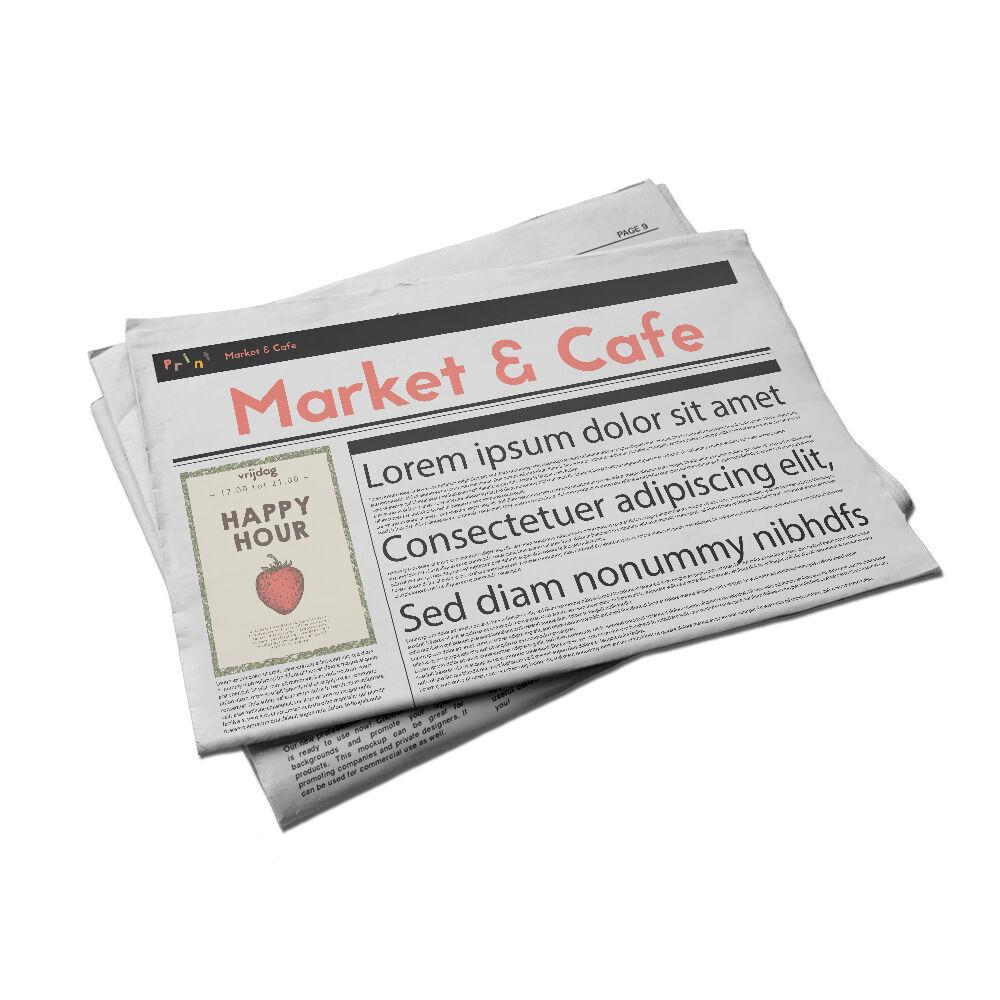 Tabloid krant drukken