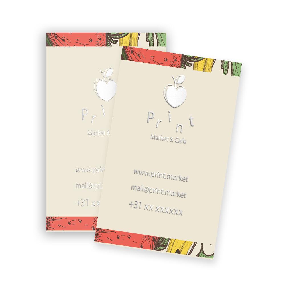 Visitekaartjes met foliedruk